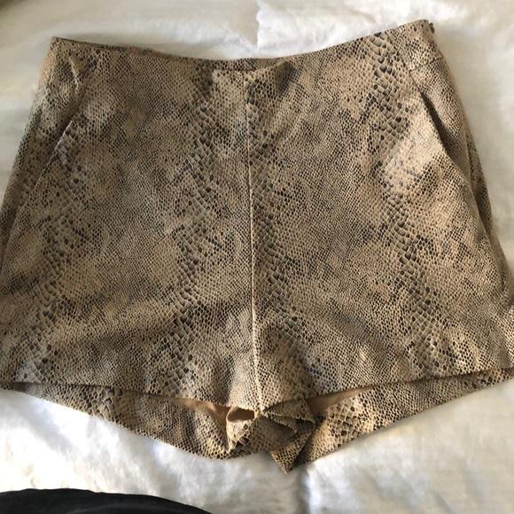 0ab19612 Zara Snake Skin Shorts. M_5a5125fe5521bef57c01951d